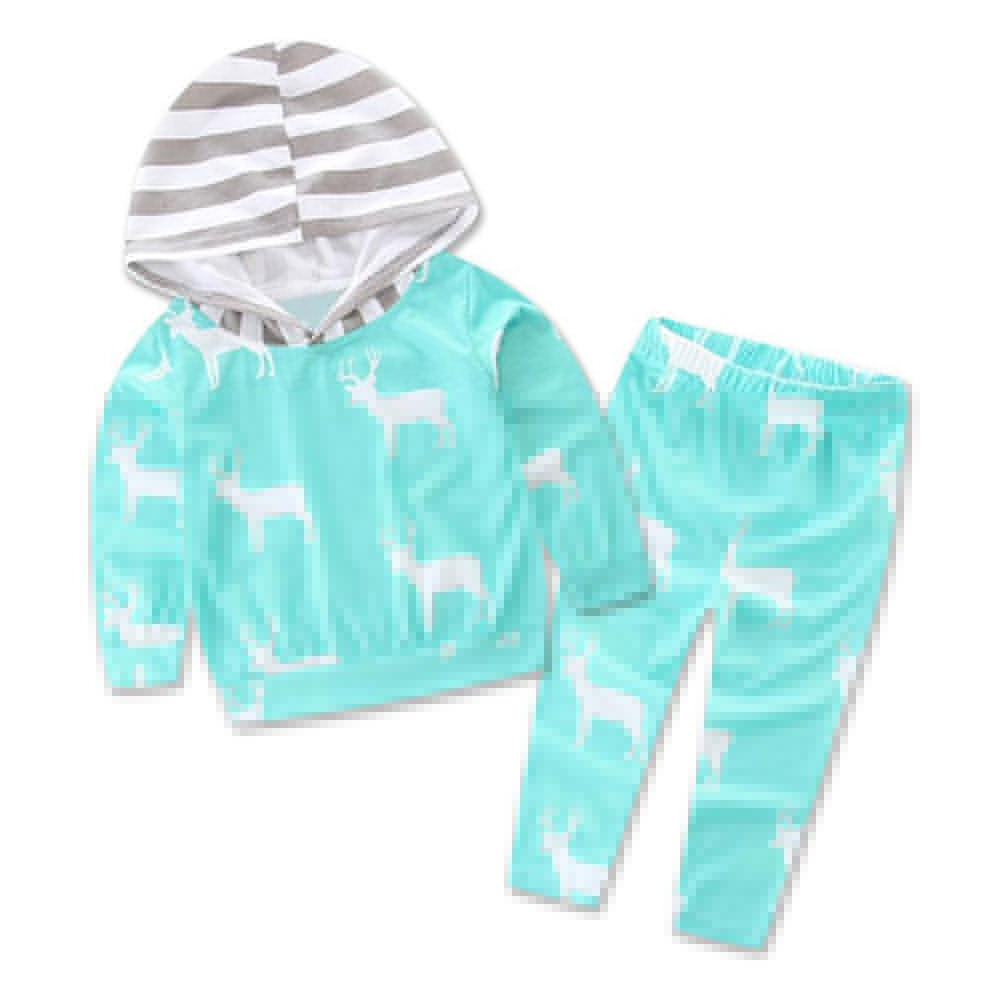 Baby Kid Boys Fashion Outfit Set Plaid Fake Two Piece Long Sleeve Top + Trousers - shopbabyitems