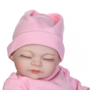 10inches Soft Silicone Cute Reborn Baby Girl Newborn Lovely Girl Lifelike Toy - shopbabyitems
