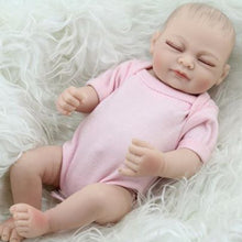 Load image into Gallery viewer, 10inches Soft Silicone Cute Reborn Baby Girl Newborn Lovely Girl Lifelike Toy - shopbabyitems