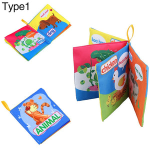 Infant Baby Intelligence Development Early Cognize Cloth Book Educational Toy - shopbabyitems