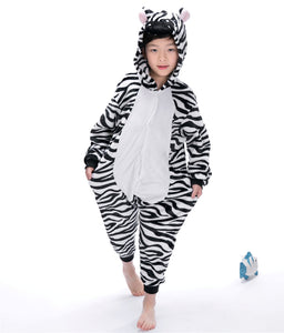Cartoon Zebra Baby Boys Girls Pajamas Children Clothing Unisex Kids Onesies Sleepwear MX-021 - shopbabyitems