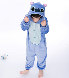Cartoon Blue Stitch Baby Boys Girls Pajamas Children Clothing Unisex Kids Onesies Sleepwear MX-025 - shopbabyitems