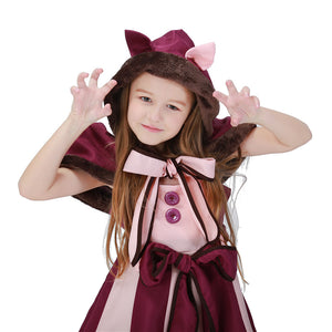 Cheshire cat Cosplay Fancy Lolita Dress Hot Alice in Wonderland Costume for Girls Party Child Performance Alice Clothes PS049 - shopbabyitems