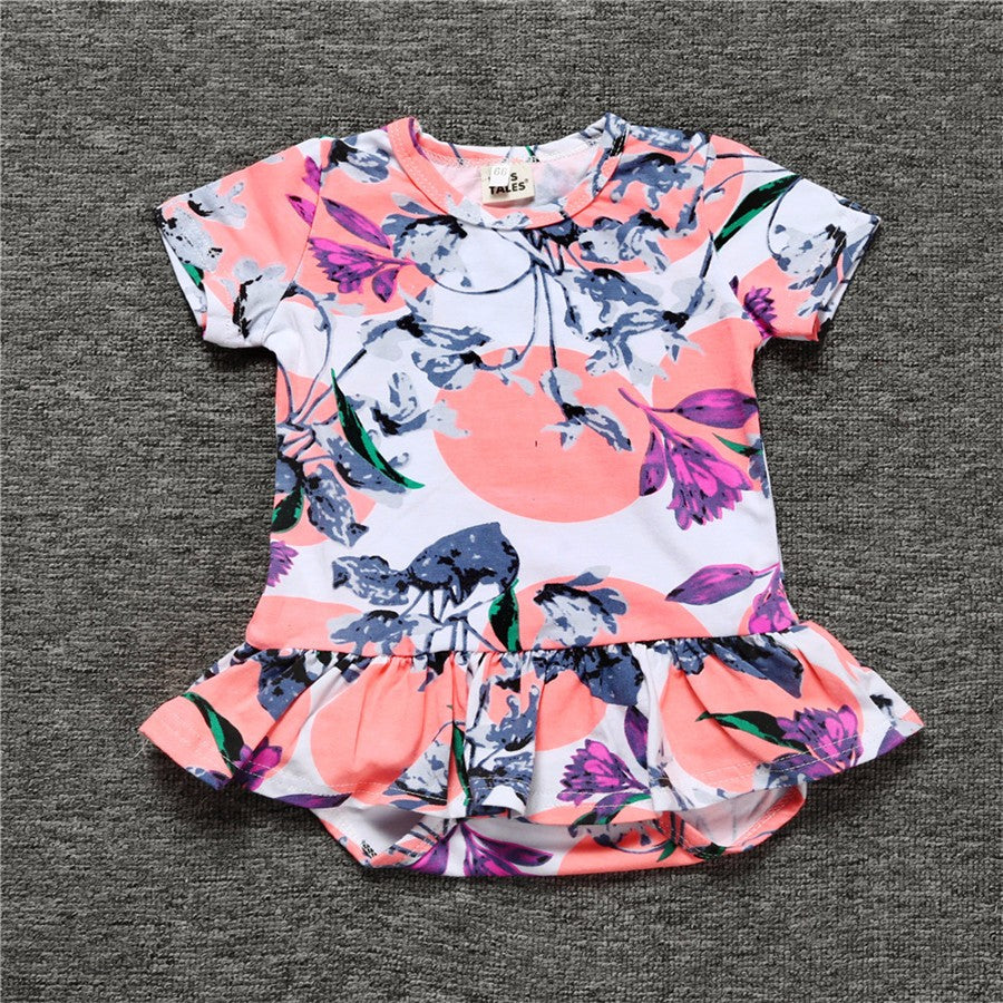 Baby Rompers Newborn Baby Girl Clothes Cute Summer Outdoor Short Sleeve Clothing Jumpsuits Infant Costume KS-018 - shopbabyitems