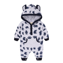 Load image into Gallery viewer, Cute Bear Ear Hooded Baby Rompers For Babies Boys Girls Clothes Newborn Clothing Jumpsuit Infant Costume Baby Outfit KS-032 - shopbabyitems