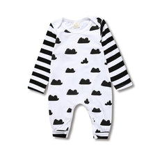 Load image into Gallery viewer, Children's Clothing Pajamas Newborn Baby Rompers Cotton Long Striped Sleeved Boys Girls Autumn Clothes KS-034 - shopbabyitems