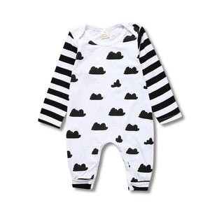 Children's Clothing Pajamas Newborn Baby Rompers Cotton Long Striped Sleeved Boys Girls Autumn Clothes KS-034 - shopbabyitems