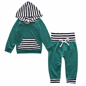 Baby Clothing Boy Girl Sport Set Newborn Infant Baby Print Hoodie Tops Pants 2Pcs Outfit Clothes Set for Kids KS-049 - shopbabyitems