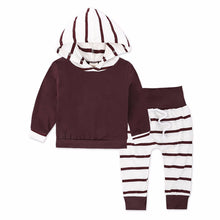 Load image into Gallery viewer, Baby Clothing Sets Spring Autumn Boys Clothes Infant Baby Striped Tops Striped Hoodies Pants Leggings 2pcs Outfits Set KS-059 - shopbabyitems