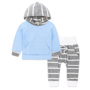 Baby Clothing Sets Spring Autumn Boys Clothes Infant Baby Striped Tops Striped Hoodies Pants Leggings 2pcs Outfits Set KS-059 - shopbabyitems