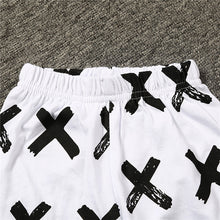 Load image into Gallery viewer, Kids Suit Boy Black Letter Top + White Pants Casual Comfortable Sleeveless Set - shopbabyitems