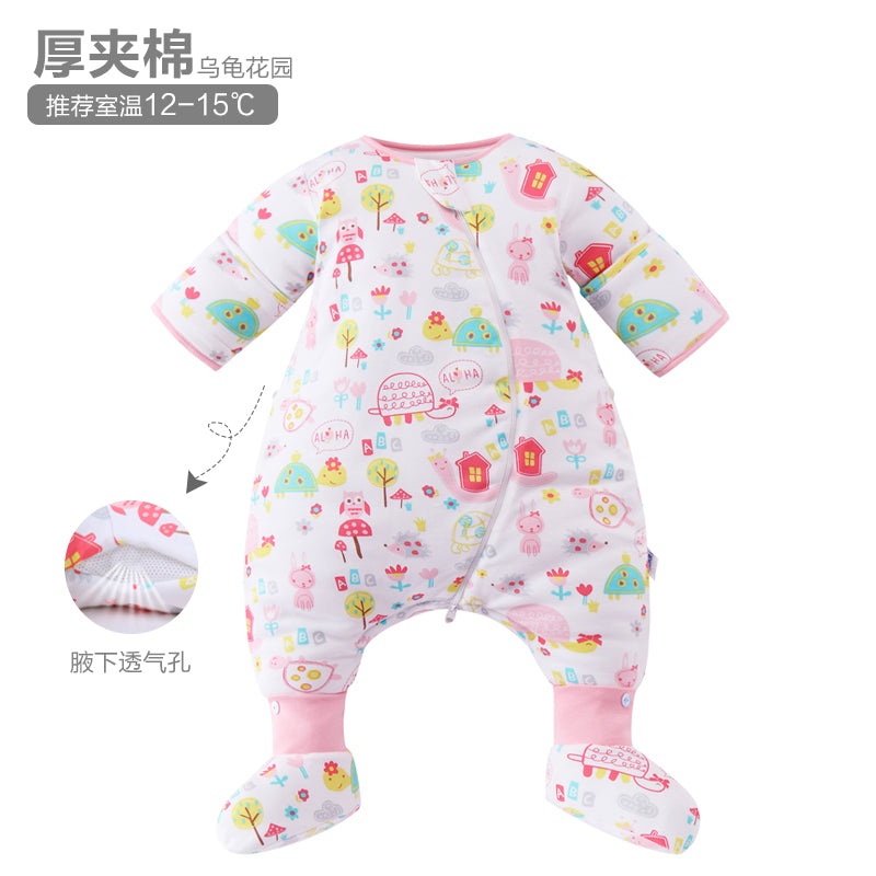 Milofish 100% cotton knitted sleeping bag with a separated leg and a detachable sleeve - shopbabyitems