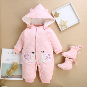 Children cotton baby clothes in the spring and autumn winter warm thick baby Jumpsuit newborn climb clothes clothes Kazakhstan - shopbabyitems