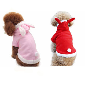 Winter Comfy Warm Cute Rabbit Costume Hoodie Pet Dog Puppy Clothes Coat Apparel - shopbabyitems