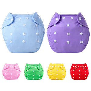 1 Pc Reusable Baby Infant Nappy Dotted Cloth Washable Diapers Soft Covers Adjustable - shopbabyitems