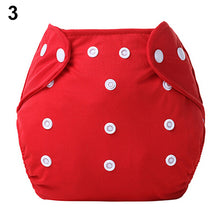 Load image into Gallery viewer, 1 Pc Reusable Baby Infant Nappy Dotted Cloth Washable Diapers Soft Covers Adjustable - shopbabyitems