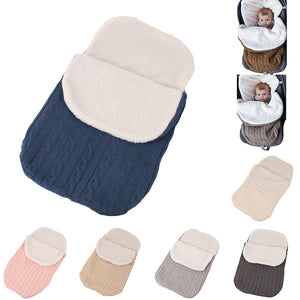 Thicken Knitted Warm Newborn Baby Infant Wrap Swaddle Stroller Sleeping Bag - shopbabyitems
