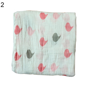 Cute Cartoon Pattern Newborn Baby Swaddle Cotton Infant Sleep Blanket Bath Towel - shopbabyitems