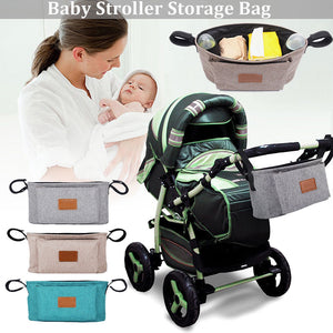 Portable Baby Stroller Pram Pushchair Hanging Storage Bag Bottle Diaper Pouch - shopbabyitems