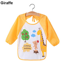 Load image into Gallery viewer, Kids Cartoon Cute Baby Toddler Waterproof Long Sleeve Bibs Feeding Smock Apron - shopbabyitems