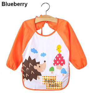 Kids Cartoon Cute Baby Toddler Waterproof Long Sleeve Bibs Feeding Smock Apron - shopbabyitems