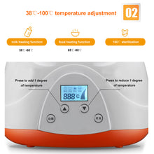 Load image into Gallery viewer, Multiuse Baby Feeding Sterilizer Double Bottle Food Milk Electric Warmer Heater - shopbabyitems