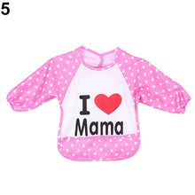 Load image into Gallery viewer, Baby Toddler Waterproof Cute Long Sleeve Bibs Children Feeding Smock Apron - shopbabyitems