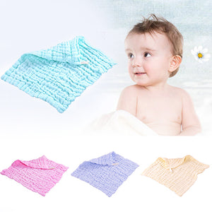 6 Layers Solid Color Newborn Baby Saliva Towel Comfortable Toddler Feeding Bib - shopbabyitems