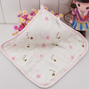 Cute 6-Layer Gauze Bamboo Fiber Square Infant Baby Towel Washcloth Handkerchief - shopbabyitems