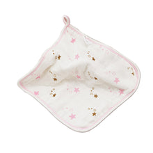 Load image into Gallery viewer, Cute 6-Layer Gauze Bamboo Fiber Square Infant Baby Towel Washcloth Handkerchief - shopbabyitems