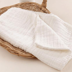 Newborn Infants Cotton Large Bath Towel Solid Color 10 Layers Soft Washcloth - shopbabyitems