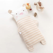 Load image into Gallery viewer, Stripe Cartoon Animal Cute Newborn Baby Organic Cotton Shaping Pillow Cushion - shopbabyitems
