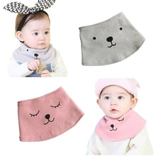 Load image into Gallery viewer, Newborn Infant Soft Cotton Baby Boy Girl Cute Bibs Cartoon Bear Saliva Towel - shopbabyitems