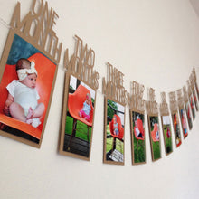 Load image into Gallery viewer, Baby Kids Birthday Gift Decoration 1-12 Month Picture Banner Monthly Photo Wall - shopbabyitems