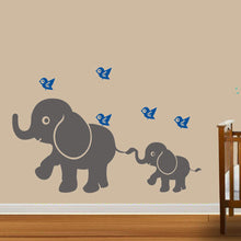 Load image into Gallery viewer, Baby Kids Elephant Bird Wall Art Sticker Decal DIY Nursery Bedroom Home Decor - shopbabyitems