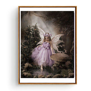 Baby Girl Angel Swan Full Diamond Painting Wall Cross Stitch Embroidery Decor - shopbabyitems
