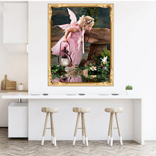 Load image into Gallery viewer, Baby Girl Angel Swan Full Diamond Painting Wall Cross Stitch Embroidery Decor - shopbabyitems
