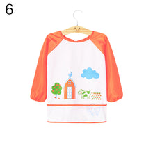 Load image into Gallery viewer, Kids Baby Toddler Waterproof Long Sleeve Bib Cartoon Pattern Feeding Smock Apron - shopbabyitems
