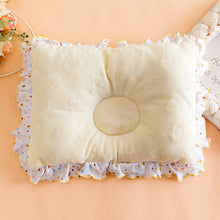 Load image into Gallery viewer, Anti-Flat Head Ruffled Infant Newborn Baby Pillow Velvet Cotton Support Cushion - shopbabyitems