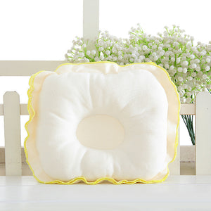 Anti-Flat Head Ruffled Infant Newborn Baby Pillow Velvet Cotton Support Cushion - shopbabyitems