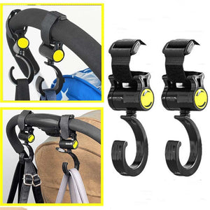 2Pcs Baby Buggy Clips Strong Strap Car Seat Back Carriage Stroller Hanging Hooks - shopbabyitems