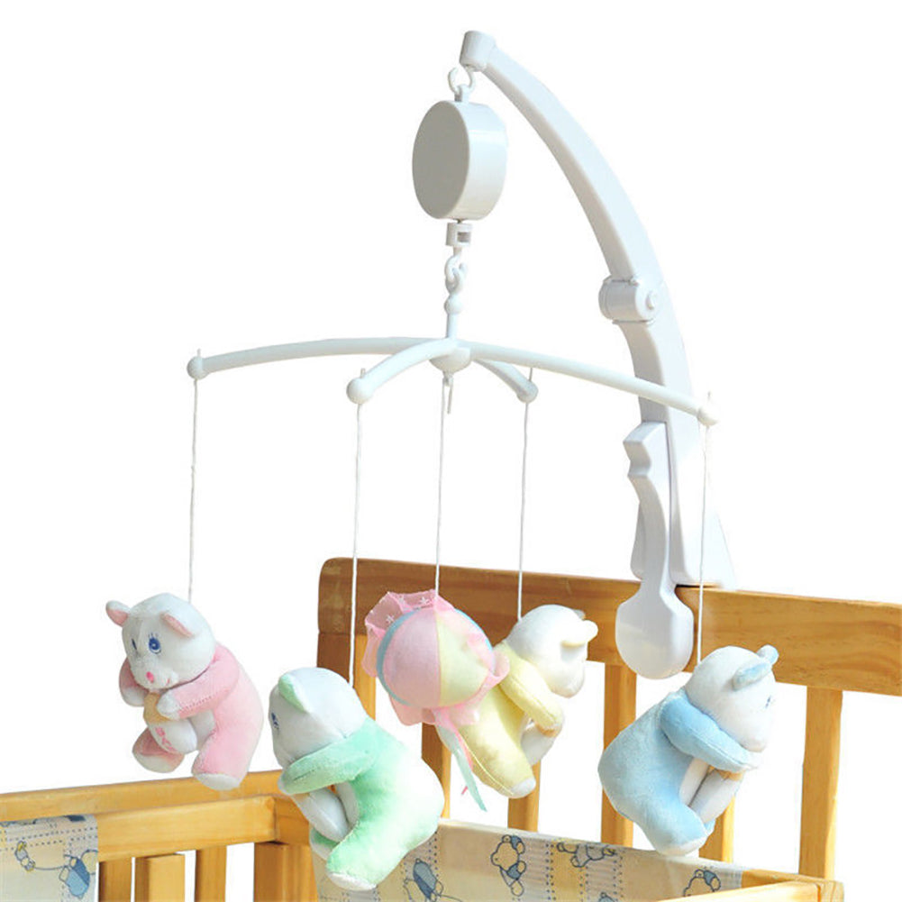 Baby Crib Bed Hanging Bell Wind-up Rotating Music Box Kids Develop Toy Gift - shopbabyitems