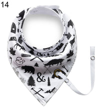 Load image into Gallery viewer, Baby Infant Toddler Soft Triangle Bandana Bib Saliva Towel with Pacifier Clip - shopbabyitems