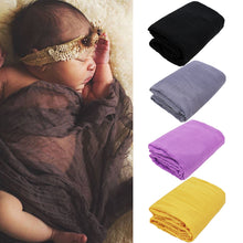 Load image into Gallery viewer, Photography Prop Newborn Baby Swaddling Wrap Scarf Sleeping Shower Gauze Blanket - shopbabyitems