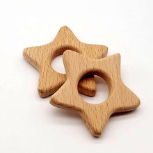 Load image into Gallery viewer, DIY Wooden Cartoon Animal Baby Teether Teething Chew Nursing Toys Pendant - shopbabyitems