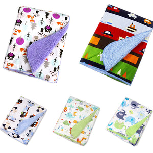 Double Layer Soft Newborn Baby Receiving Blankets Swaddle Wrap Bedding Bedsheet - shopbabyitems