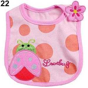 Newborn Toddler Infant Baby Boy Girl Kids Cartoon Bibs Waterproof Saliva Towel - shopbabyitems