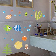 Load image into Gallery viewer, Bathroom Cartoon Fish Wallpaper Baby Kids Room Decal Art Wall Sticker Decor - shopbabyitems