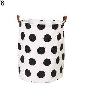 Baby Kids Toy Clothes Storage Canvas Nordic Style Laundry Basket Organizer Tool - shopbabyitems