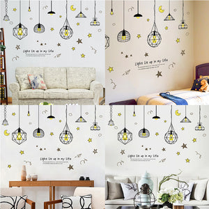 Modern Star Moon Wallpaper Background Baby Room Home Office Wall Sticker Decor - shopbabyitems
